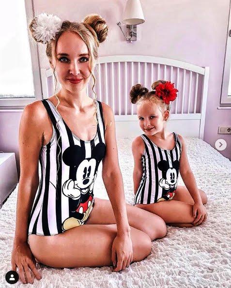 Photos of Alya Chaglar and her cheerful daughter Stefani