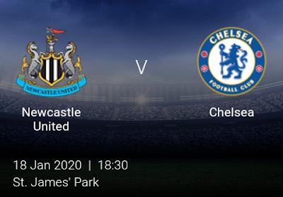 LIVE MATCH: Newcastle United Vs Chelsea Premier League 18/01/2020