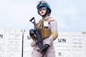 Wow, Seorang Polwan Cantik Dipercayakan Jadi Pasukan Perdamaian di Afrika Tengah