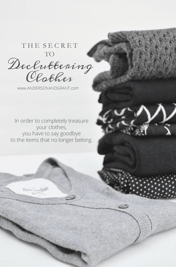 Check out this post for tips on decluttering your clothes and how to create a wardrobe that you love and gives you confidence.  |  www.andersonandgrant.com