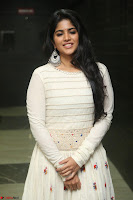 Megha Akash in beautiful White Anarkali Dress at Pre release function of Movie LIE ~ Celebrities Galleries 031.JPG