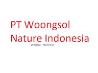 Lowongan Kerja PT Woongsol Nature Indonesia Terbaru