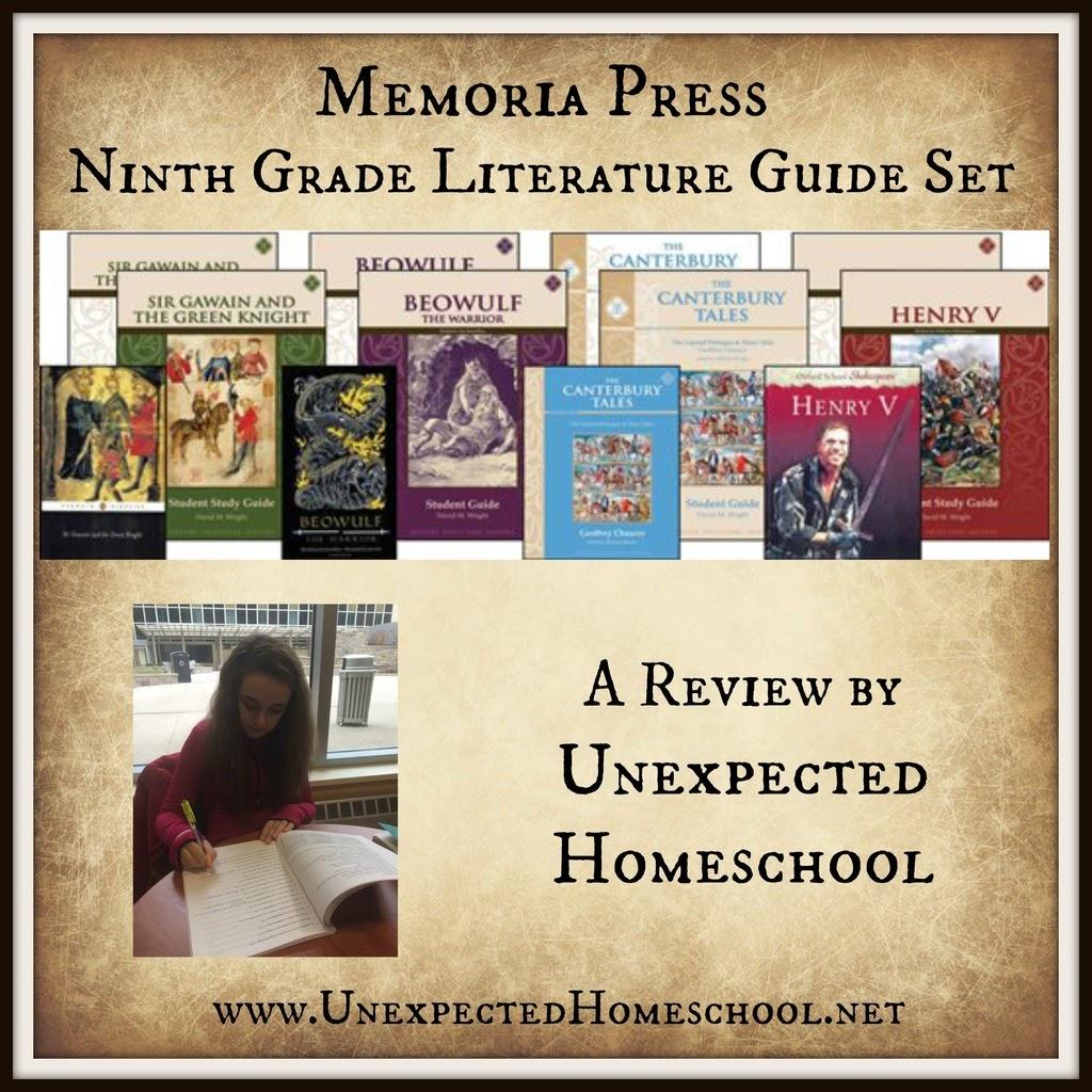 Unexpected Homeschool Review Memoria Press