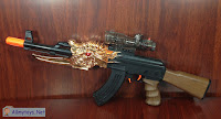 Toy AK gun with Nerf darst and water ball bullets