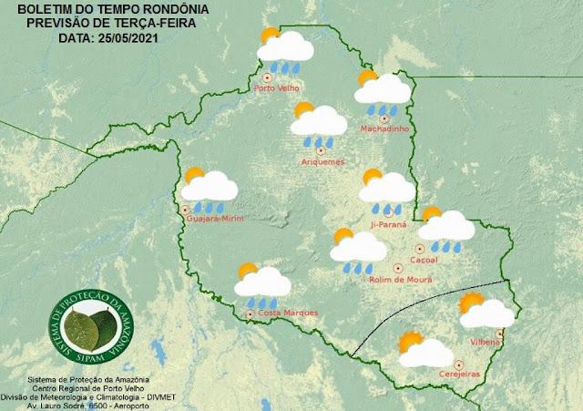 Temperaturas voltam a subir nesta terça-feira em Rondônia