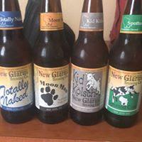 Auswahl an Bieren der New Glarus Brewing Company in New Glarus