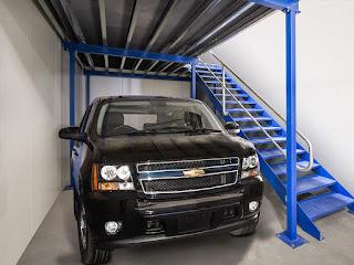 Car storage unit size