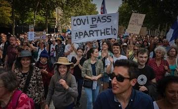 Resistência na França: Milhares continuam protestando contra a vacinação obrigatória e passe sanitário