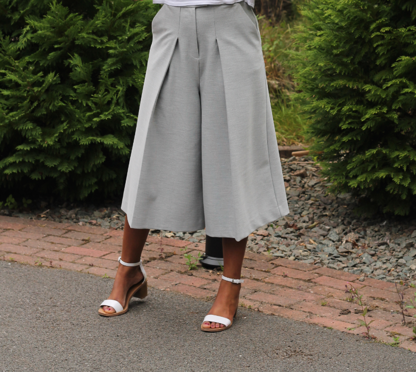 Whistles Culottes Cropped Trousers, Topshop Cami, Zara Shoes
