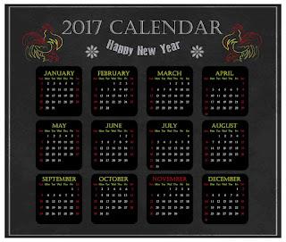 2017カレンダー無料テンプレート18