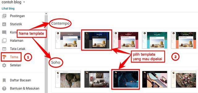 cara mengganti template bawaan blogger
