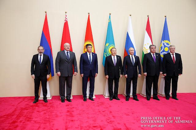 Pashinyan asiste a la reunión de la OTSC en Astana