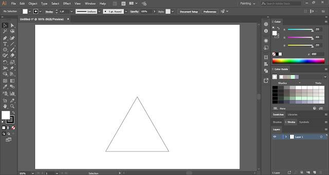 Escher Infinity Shape in Adobe Illustrator