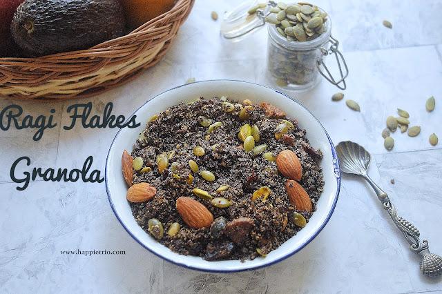 Ragi Flakes Granola Recipe | Finger Millet Granola Recipe | Ragi Muesli Recipe
