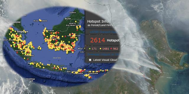 Link Akses Resmi Informasi Hotspot dan Sebaran Asap Kebakaran Hutan dan Lahan
