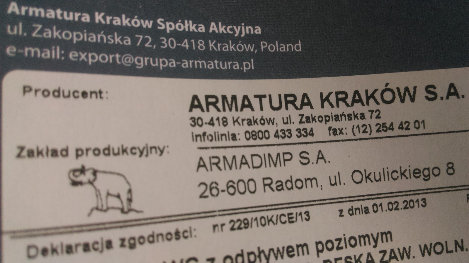 Armatura Z Krakowa Szafa Z Targówka M3 Made In Poland