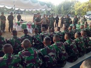 Pangdam IX/Udayana Pastikan Pengamanan Kunker Wapres RI Aman serta Tinjau Markas Ki 'B' Yonif 742/SWY