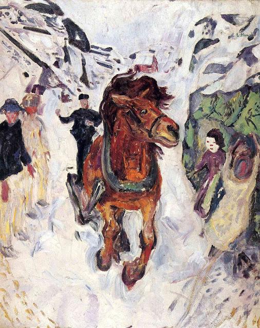 Эдвард Мунк - Конь на скаку. 1912