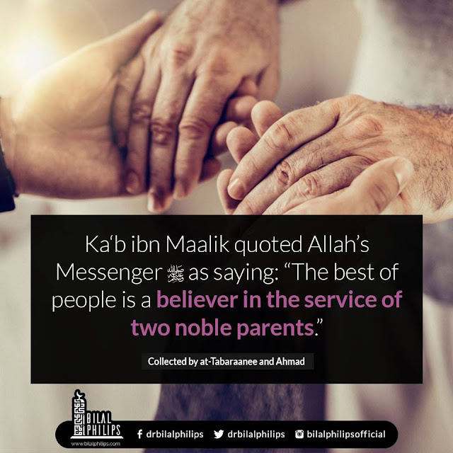 The best of people is a believer in the service of two noble parents. Parents Status Quotes Images Download for WhatsApp