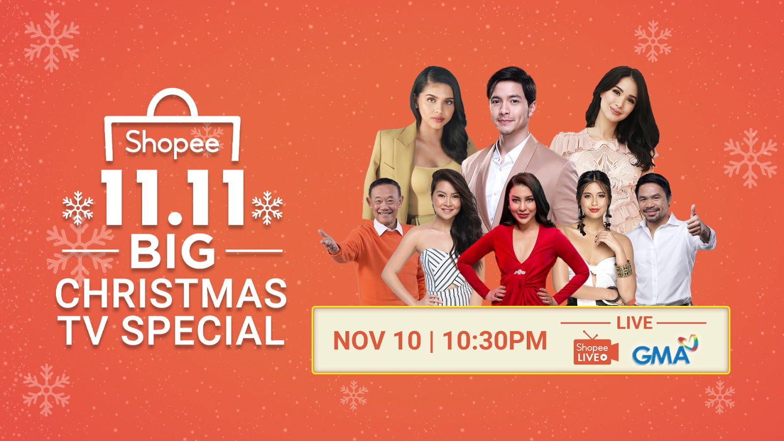 Shopee holds its first-ever 11.11 Big Christmas TV Special on GMA-7