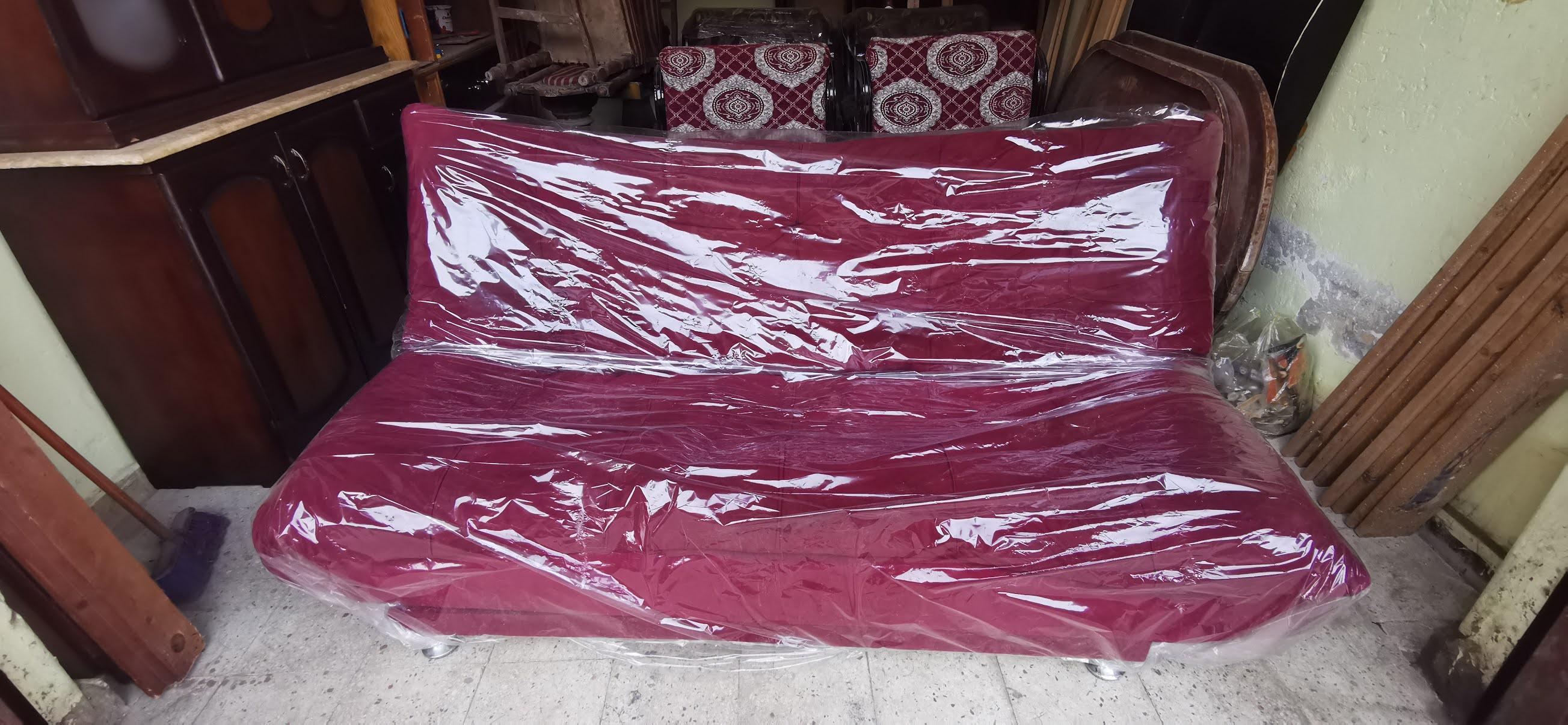 كنبه سرير اللون نبيتي 1