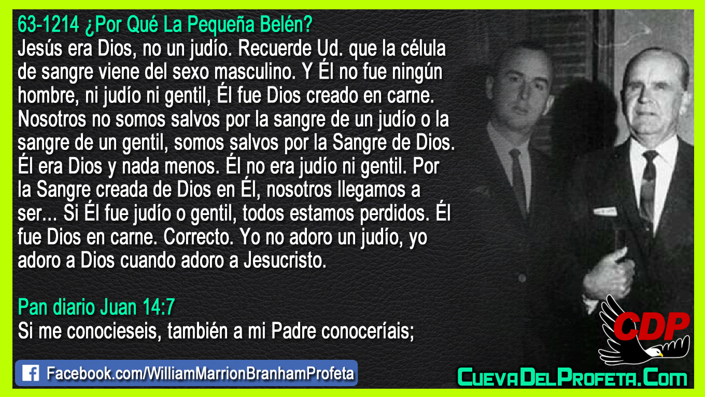Él fue Dios creado en carne - William Branham en Español