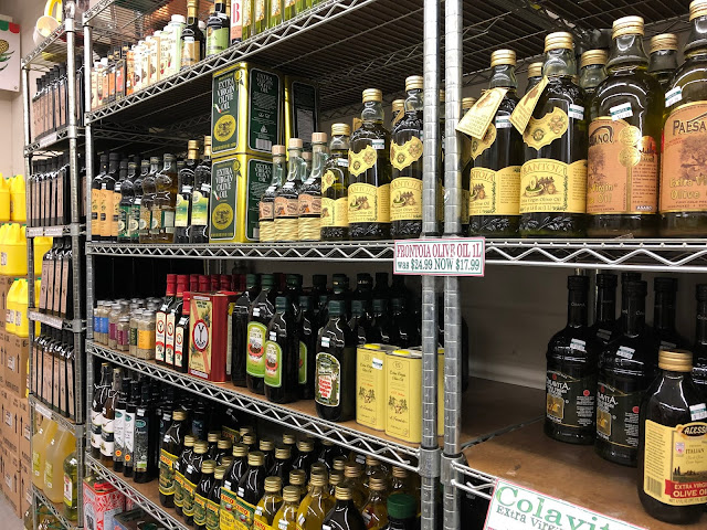 Quality and authentic Italian ingredients abound at Tenuta's in Kenosha, Wisconsin! Can you believe how many olive oils there are?