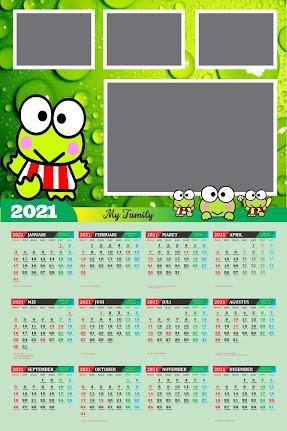 Desain Kalender Dinding 2021 Karakter