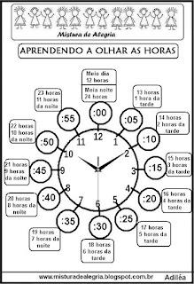 Atividade matemática com relógio