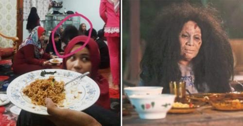 Foto Penampakan Hantu Wanita saat Open House Lebaran Ini Bikin Netizen Merinding!