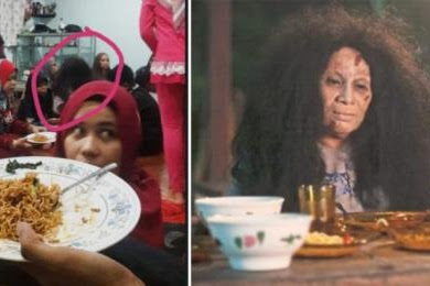 Foto Penampakan Hantu Wanita saatOpen House Lebaran Ini Bikin Netizen Merinding!