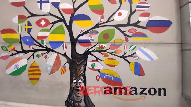 graffiti árbol banderas Amazon