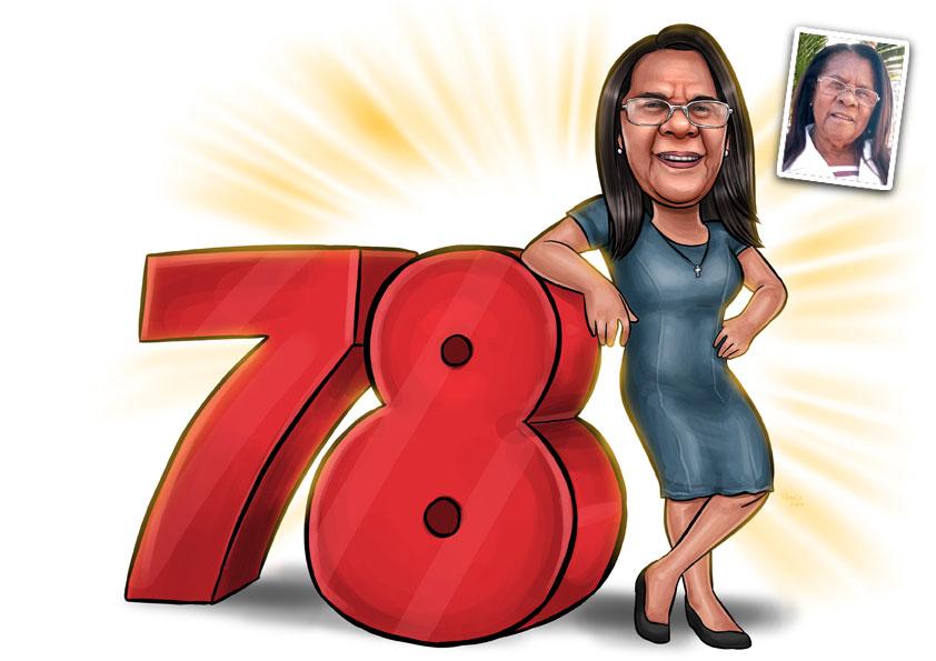 caricatura aniversario 78 anos