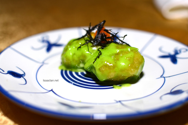 Deep Fried Prawns Dipped In Wasabi Sauce