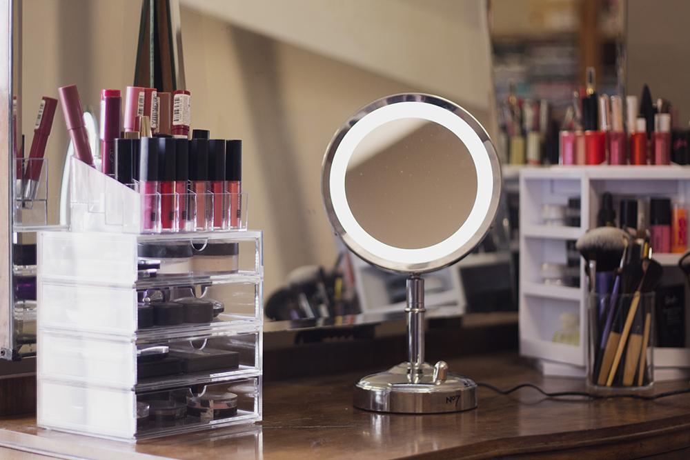 No7 Light Up Mirror and Muji Narrow Drawers