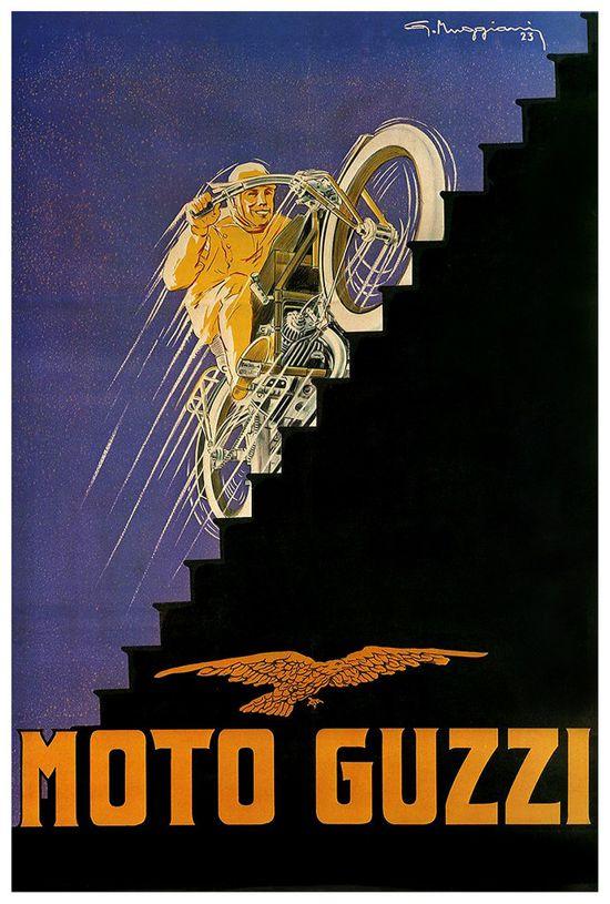 Moto Guzzi advertising 1923 by Giorgio Muggiani