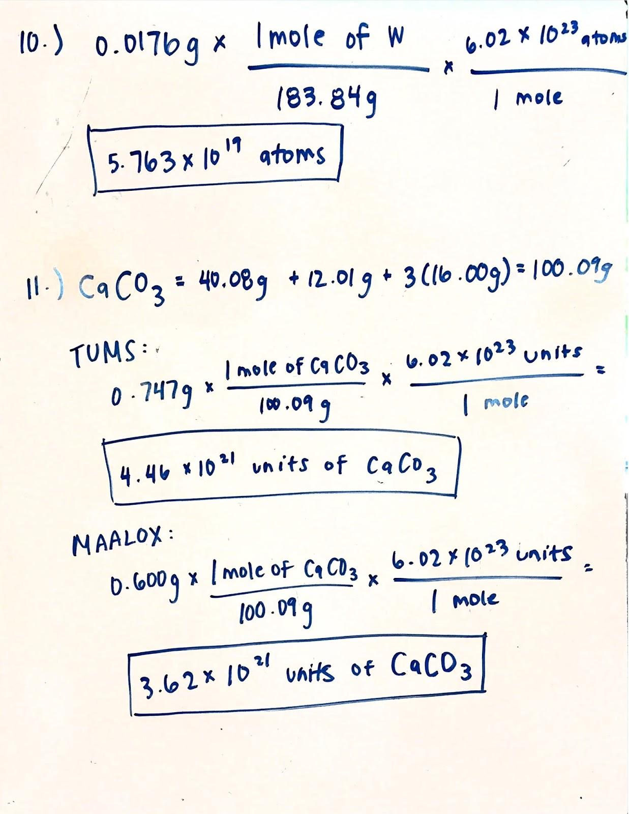 Chemistry Unit 11 Worksheet 3