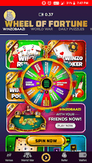 winzo gold spin and won