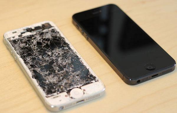 mặt kính iphone 5s bị vỡ