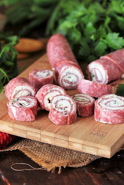 Salami Cream Cheese Roll-Ups Image