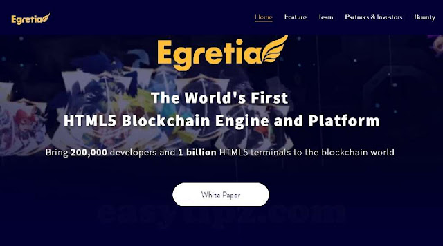 What is Egretia? The World's First HTML5 Blockchain Engine and Platform - Egretia ICO Project Review