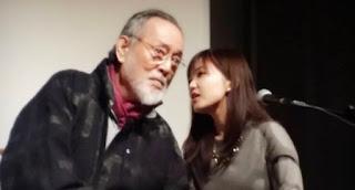 Tatsuya Nakadai and Marie Iida