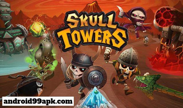لعبة Skull Towers v1.2.7 مهكرة بحجم 64 ميجابايت للأندرويد