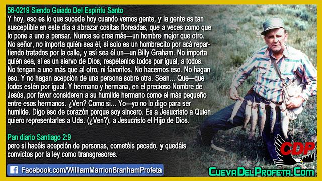 Respeto a los siervos de Dios por igual - William Branham en Español