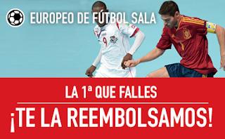 sportium promocion Europeo Fútbol Sala: Apuesta Sin Riesgo