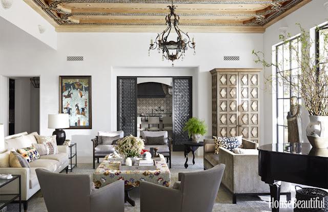 Contoh desain rumah satu lantai yang sederhana tanpa sekat