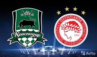 Краснодар – Олимпиакос  смотреть онлайн бесплатно 27 августа 2019 прямая трансляция в 22:00 МСК.