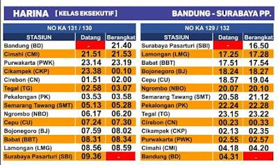 The latest Harina train schedule starts December 1, 2019