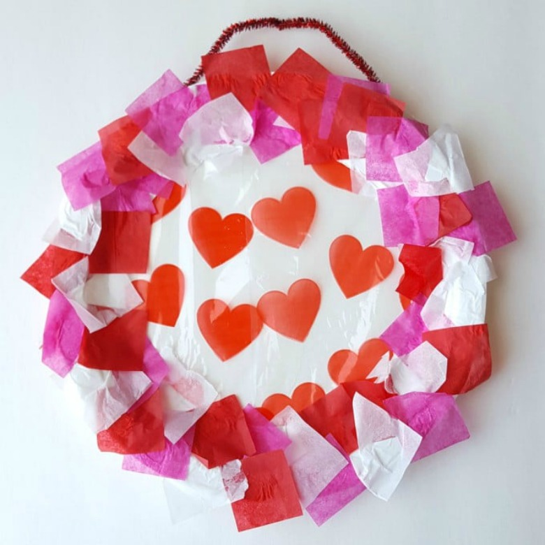 valentines day wreath craft for toddlers