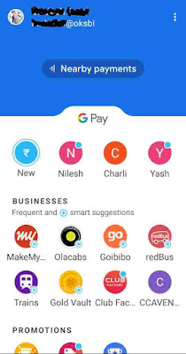 Google Pay se online recharge